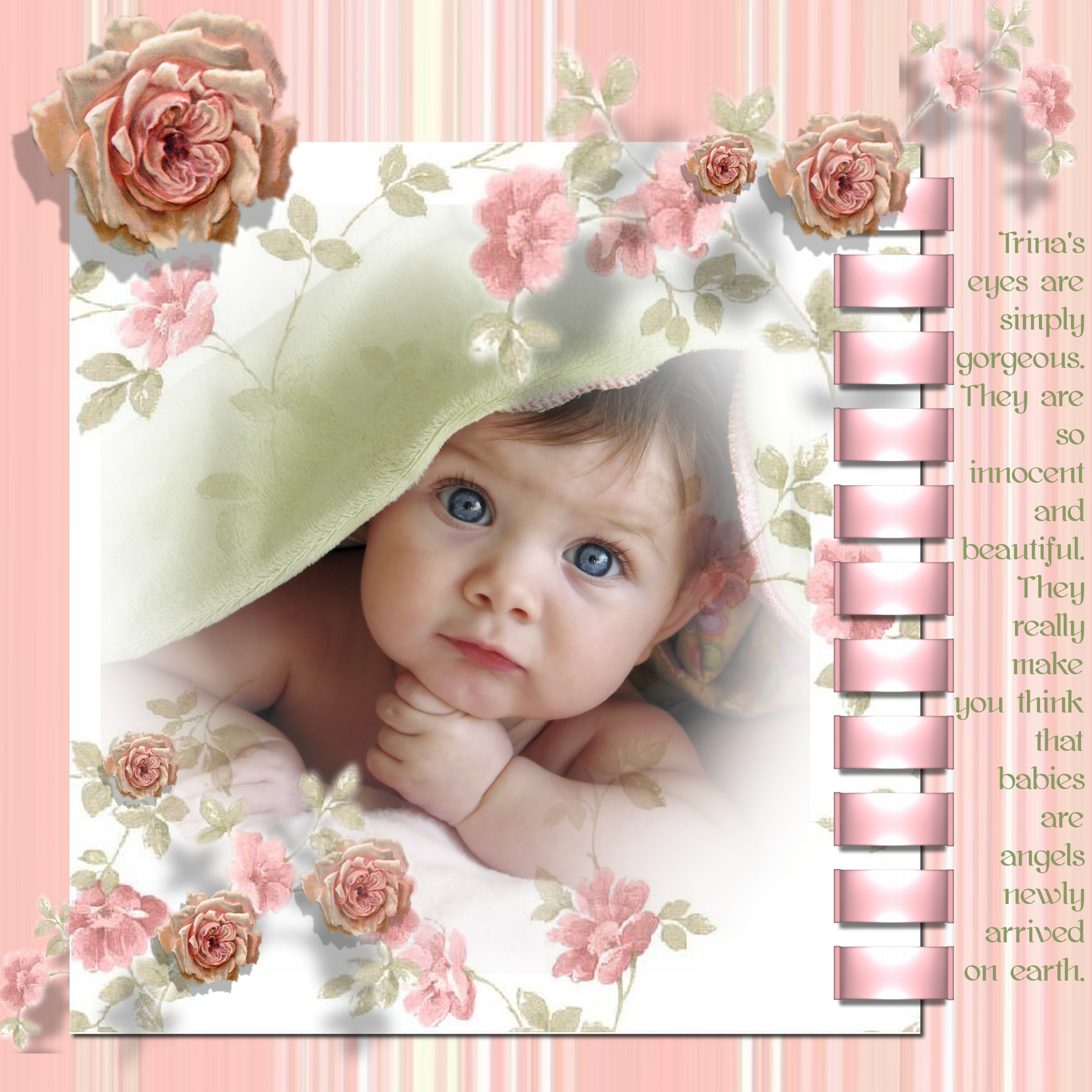 Baby Girl Digital Scrapbooking Layouts With Everyday