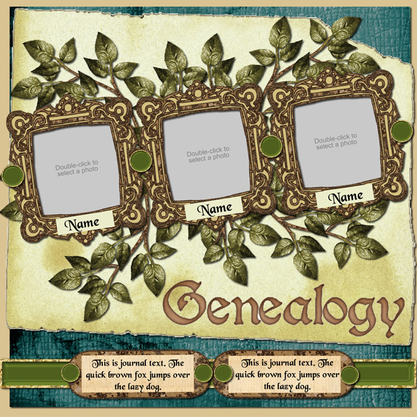 Family Tree Scrapbook Software Family Heritage Expansion Pack