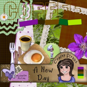 Michelle McCoy - Scrapbooking Challenge Freebie Kit