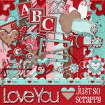 Scrapbook Kit Valentine Theme