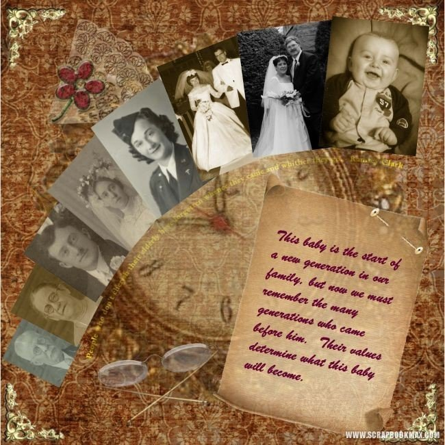 Vintage Memories Archives Scrapbook MAX