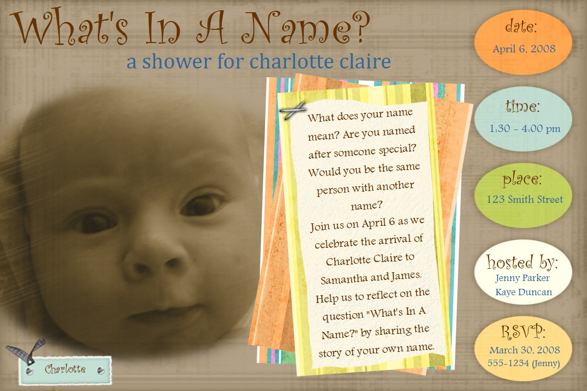 Baby Shower Scrapbook Pages Part - 45: Groove-baby-invitation-000-charlotte-claire.jpg