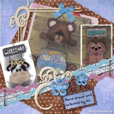 Michelle McCoy - Stitched Art Layout