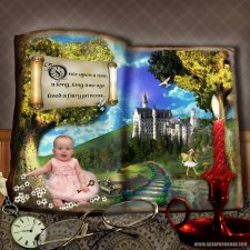 crops2dawn-Fairytale Baby Layout