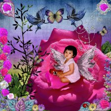 Moonlightpearl-Pretty Fairy Layout