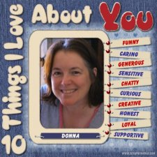 Fiona Storey - Ten Things I Love About You Layout