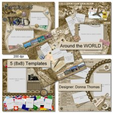 Donna Thomas - Around The World Templates