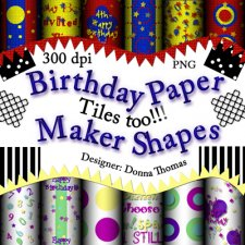 Donna Thomas - Birthday Paper Maker Shapes Kit