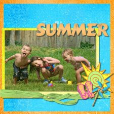 Tina Sudweeks - A Summer Tease Layout