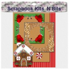 Kathy Wadell - Art Deco Gingerbread House Mini-Kit - Scrapbook MAX! Booster Pack Store