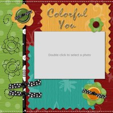 Wendy Gibson - Colorful You Template - Scrapbook MAX! Booster Pack Store