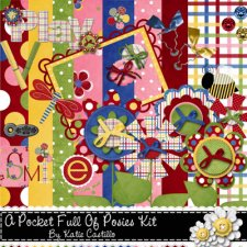 Katie Castillo - A Pocket Full of Posies Kit