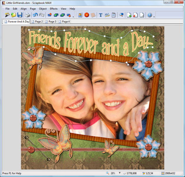 Scrapbook MAX 2.0 digital scrapbooking software is fun and easy to use.