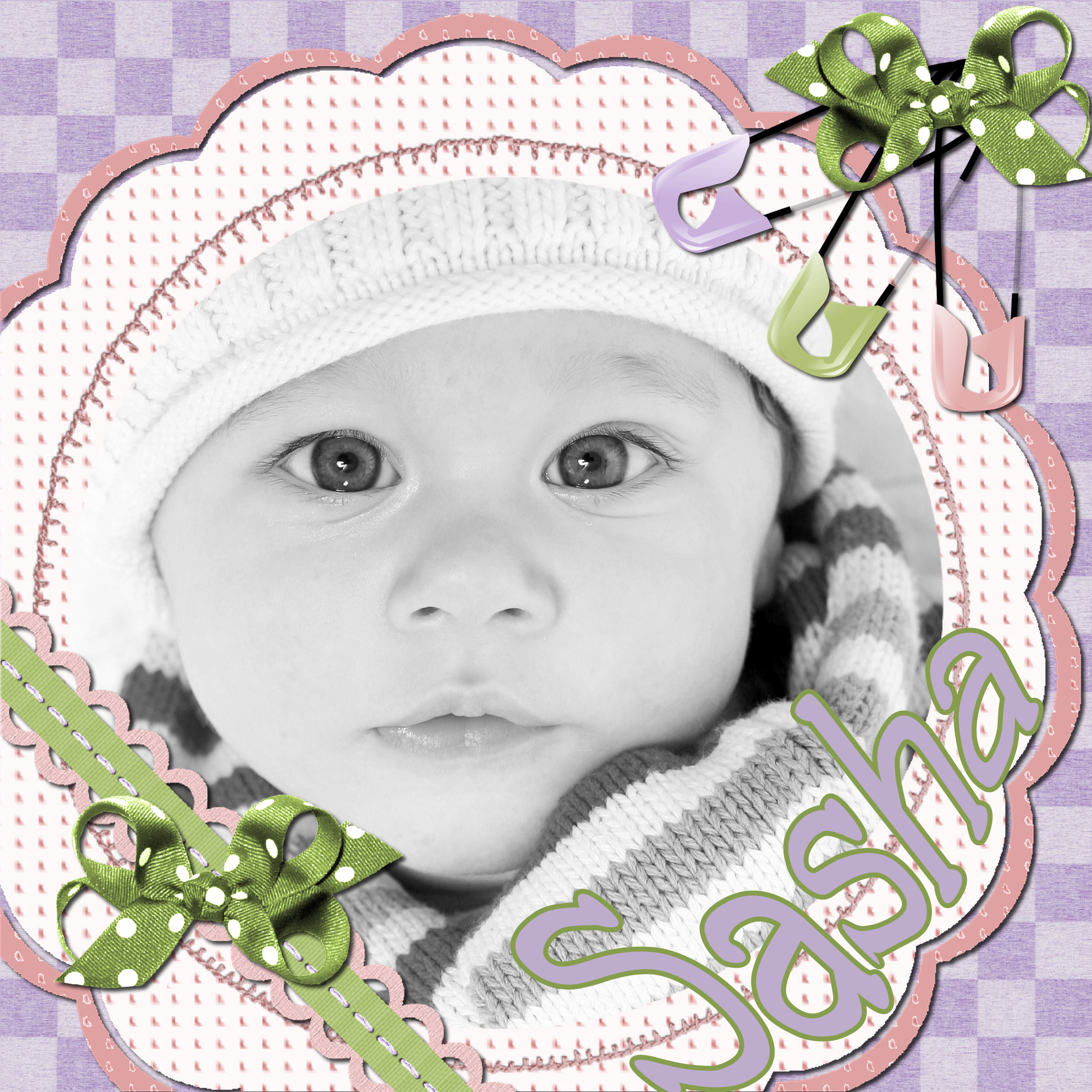 Baby scrapbook page ideas - Scrapbook Max Sample Layout 7