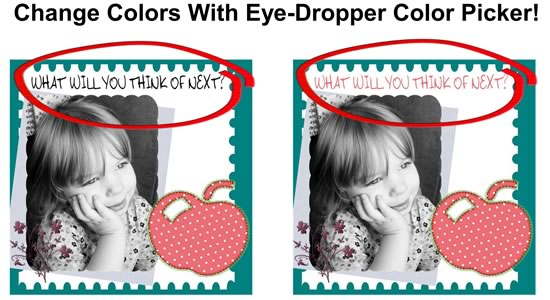 Using the Eye-Dropper Color Picker