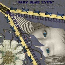 Paula K - Baby Blue Eyes Layout
