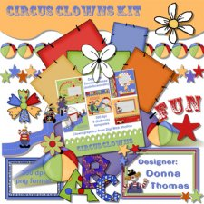 Donna Thomas - Circus Clowns Kit