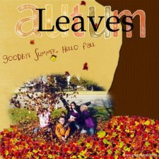 Debby - Autumn Leaves Layout
