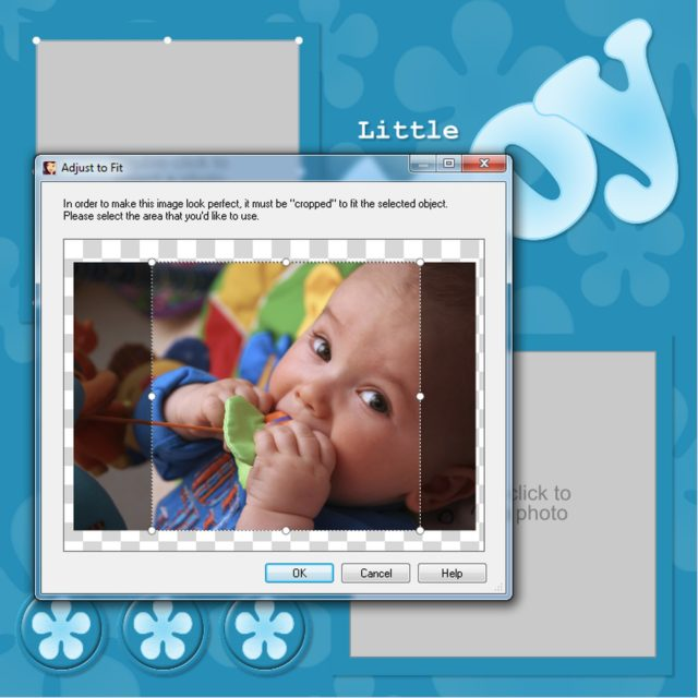 Crop a Photo in Scrapbook MAX!