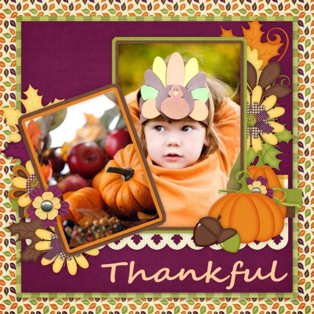 Scrapbook MAX! Thanksgiving Layout